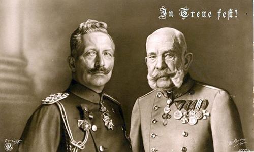 1879 Der Zweibund des Deutschen Reiches mit dem Kaiserreich Österreich wird geschlossen