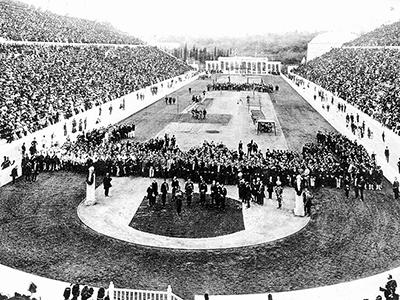 Die ersten olympischen Spiele der Neuzeit finden in Athen statt